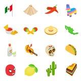 Mexico isometric 3d icons Stock Photos