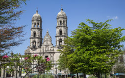 Mexico. Jalisco,Basilica de Zapopan. Monuments of Guadalajara, Jalisco, Mexico. Basilica de Zapopan Royalty Free Stock Photos