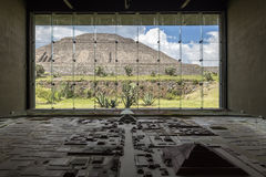 MEXICO, June 9, 2016: Interior of the Teotihuacan Pyramids Museu Royalty Free Stock Photo
