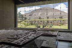 MEXICO, June 9, 2016: Interior of the Teotihuacan Pyramids Museu Stock Photography