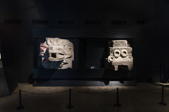 MEXICO, June 9, 2016: Interior of the Teotihuacan Pyramids Museum Royalty Free Stock Image