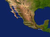 Mexico map Stock Photo