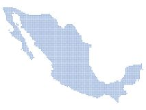 Mexico map dots Stock Image