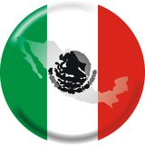 Mexico map and flag Royalty Free Stock Image