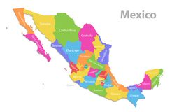 Sinaloa State Map.Sinaloa Map Stock Illustrations 14 Sinaloa Map Stock Illustrations