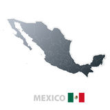 Mexico map with official flag Royalty Free Stock Photography