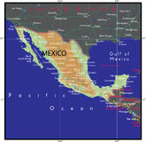 Mexico map Vector Royalty Free Stock Photography