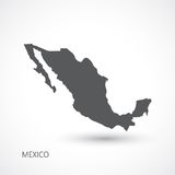 Mexico map vector illustration Royalty Free Stock Images
