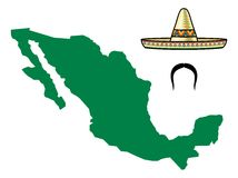 Mexico map Stock Photography