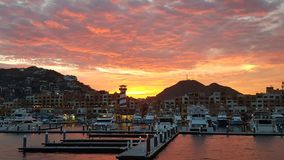 Mexico Marina Sunset fotografering för bildbyråer