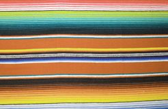 Mexican poncho background blanket cinco de mayo Mexico traditional rug poncho fiesta background with stripes copy space stock photo