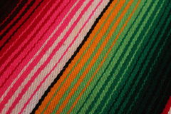 Mexico Mexican traditional cinco de mayo rug poncho fiesta background with stripes Royalty Free Stock Photos