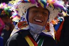 Mexico, Mexique 11 décembre 2017 : Jeunes pèlerins sur le voyage pour célébrer les festivités à la basilique de Guadalupe Photo stock