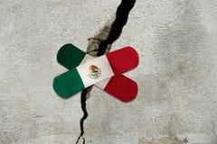 MEXICO, MEXIQUE, le 19 septembre 2017 - reconstruction Mexico - Mexique a frappé par un autre tremblement de terre Images libres de droits