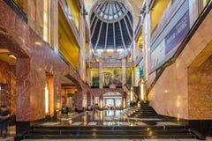 MEXICO, MEXIQUE - 21 OCTOBRE 2016 : Intérieur de Palacio de Bellas Artes qui a été prévu par Federico Mariscal Images stock