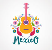 Mexico Music And Food Elements Stock Photos