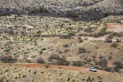 Mexico - Nogales - the USA Border Patrol. Mexico - Nogales - The Border Patrol control the wall that separate Mexico stock image