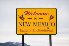 mexico nytt tecken att välkomna Arkivfoton