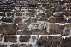 Mexico Oaxaca Monte Alban pyramide steps texture. Ascending Royalty Free Stock Photography