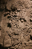 Mexico Oaxaca Santo Domingo monastery museum aztec stella king w Royalty Free Stock Images