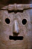 Mexico Oaxaca Santo Domingo monastery museum pottery detail zapo. Tec mask Royalty Free Stock Photo