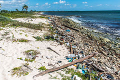 Mexico ocean Pollution Problem plastic litter  Stock Image