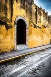 Mexico, Old church enter. Church entrance at Campeche city in Mexico stock photos