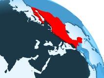 Mexico op blauwe bol royalty-vrije illustratie