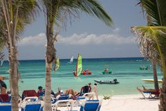 Mexico op strand actieve mensen Royalty-vrije Stock Afbeelding