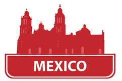 Mexico outline Royalty Free Stock Photos