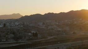 Mexico på solnedgången från ett medel stock video