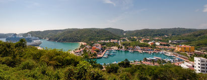 Mexico Panorama. A panoramic background with a view of Huatulco, Mexico Stock Photography