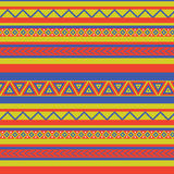 Mexico pattern. Bright coloured ethnical mexican style geometric pattern Royalty Free Stock Photo
