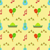Mexico pattern. Ornament print textile fabric cover packing paper texturen Royalty Free Stock Photography