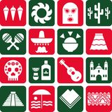 Mexico pictograms Stock Photography