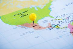 Free Mexico Pinned At The Map Stock Image - 153087271