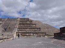 mexico Piramidi di Teotihuacan Piramide della luna Fotografia Stock