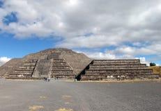 mexico Piramidi di Teotihuacan Piramide della luna Immagini Stock