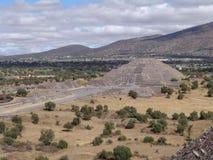 mexico Piramidi di Teotihuacan Piramide della luna Fotografia Stock Libera da Diritti