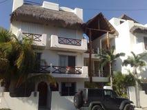 Mexico Playa del Carmen. Apartment mansard roof Stock Photography