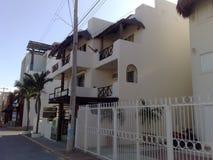 Mexico Playa del Carmen. Apartment palm white Royalty Free Stock Photo