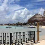 Mexico - Playa Del Carmen near Cancun. The beach resort of Playa Del Carmen on the Quintana Roo Coast near Cancun on the Yucatan Peninsula in Mexico Stock Photo