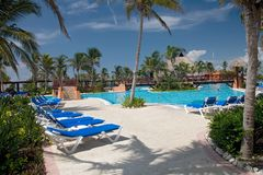 Mexico pool. Mexico swimming in pool area Royalty Free Stock Photo