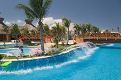 Mexico pool like river Royalty Free Stock Images