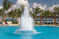 Mexico pool ocean waterworks Royalty Free Stock Image