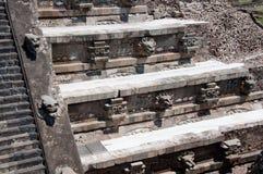mexico quetzalcoatl świątynia teotihuacan Obrazy Stock