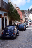 Mexico Real de Catorce. Street scene of the historic ghost town of Real de Catorce, Mexico Royalty Free Stock Photos