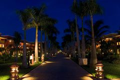 Mexico resort night Royalty Free Stock Photography