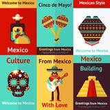 Mexico retro poster Stock Photography