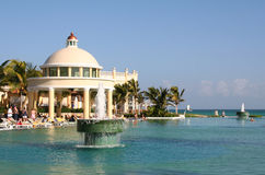 Mexico riviera maya iberostar grand paraiso pool. View Royalty Free Stock Image